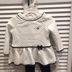 **BUY 3/$30!** NWT Calvin Klein baby girl outfit